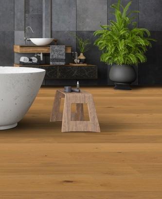 Ökobesserboden Oak Pure SR101 von susify im Badezimmer