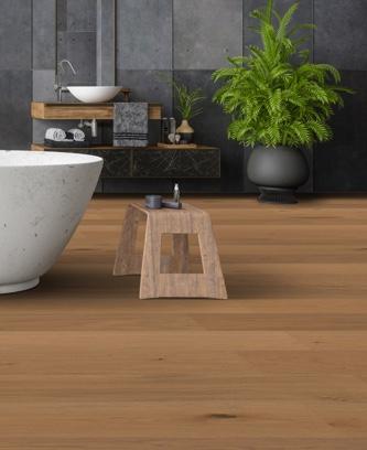 Ökobesserboden Oak White SR308 von susify im Badezimmer