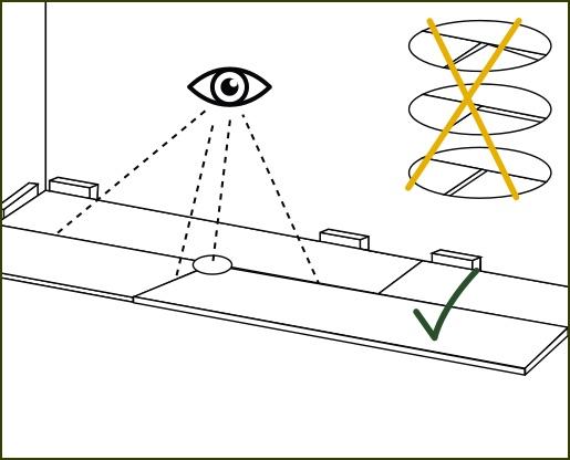 Verlegeanleitung susify: Kanten kontrollieren