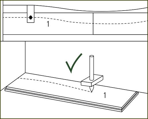 Verlegeanleitung susify: schiefe Wand ausgleichen