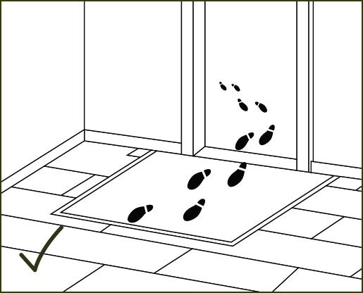Verlegeanleitung susify: Schmutzfangmatten auslegen